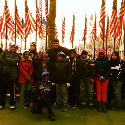 HeartShare – Youth Mentor Program visit to The Rink at Rockefeller Center